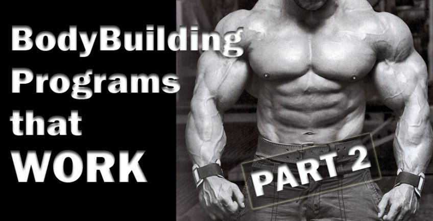 BodyBuilding Programs that WORK Part 2